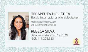 para mostrar como é o cartão do terapeuta de meditação alienígena