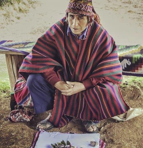 Para mostrar um ritual andino tradicional